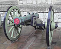 French 6 pounder field gun cast 1813 in Metz captured at Waterloo by the Duke of Wellington.jpg