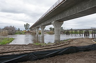 Fresno River Viaduct - The Fresno River Viaduct near completion in February 2017