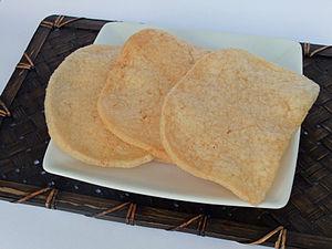 Prawn cracker - Image: Fried Krupuk Udang