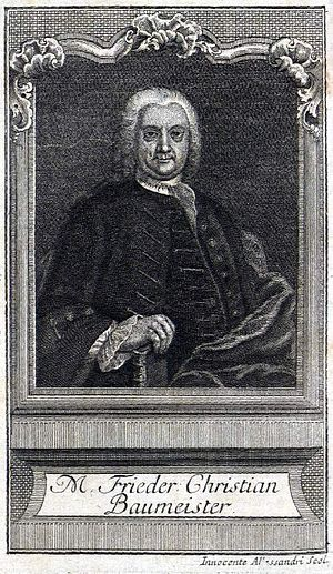 Innocente Alessandri - Oil portrait painting of Friedrich Christian Baumeister by Innocente Alessandri