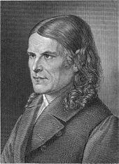 """Friedrich Rückert, Stahlstich von seinem """"lieben Freund und Kupferstecher"""" Carl Barth nach einer Vorzeichnung aus dem Jahr 1843 (Quelle: Wikimedia)"""