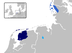 Frisian languages in Europe.svg