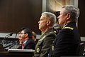 From right, U.S. Army Gen. Frank Grass, the chief of the National Guard Bureau, and Marine Corps Commandant Gen. James Amos, testify during a Senate Armed Services Committee hearing on sequestration at 130212-Z-DZ751-101.jpg