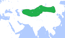 Location of Göktürk Empire