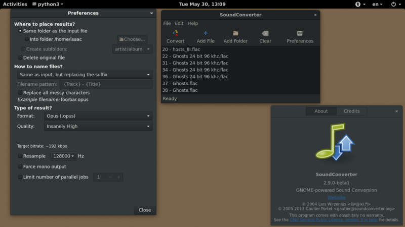 File:GNOME SoundConverter v2 9 0 on GNOME Shell 3 22 png