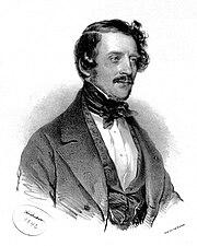 Gaetano Donizetti, Lithographie von Joseph Kriehuber (1842) (Quelle: Wikimedia)
