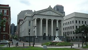 Gallier Hall - Gallier Hall, facing Lafayette Square, New Orleans