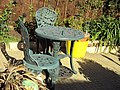 Garden chairs and table, Birkenhead - DSC09774.JPG
