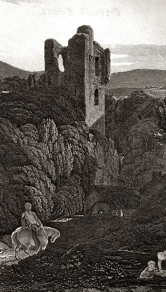 Gifford, East Lothian - Yester Castle in 1814