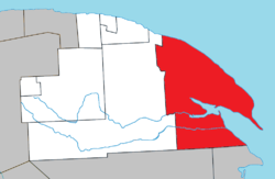 Location within La Côte-de-Gaspé RCM