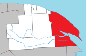 Gaspé, Quebec - Image: Gaspé Quebec location diagram
