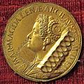 Gasparo mola, medaglia di maria maddalena d'austria (oro), 1618.JPG