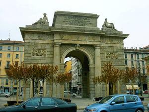 Porta Garibaldi Gate, Milano Italy - seen from...