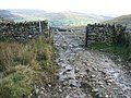Gate at the top of the Garburn Pass - geograph.org.uk - 1526918.jpg
