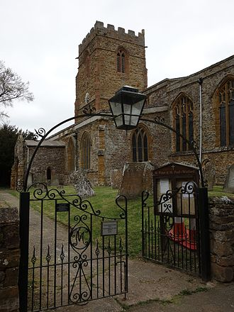 Watford, Northamptonshire - Image: Gate of St Peter and St Paul, Watford