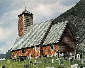 Luster, Norway - Old Gaupne Church