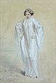 Gavarni Paul - Watercolour - Jeune-femme en costume de Carnaval - 17x24cm.jpg