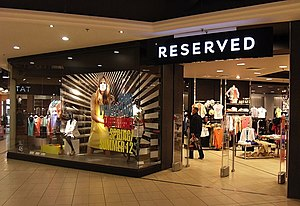 LPP (company) - A Reserved store in Gdańsk