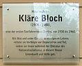 Gedenktafel Horstweg 28 (Charl) Kläre Bloch.jpg