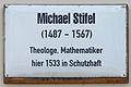 Gedenktafel Schlossstr 14-15 (Wittenberg) Michael Stifel.jpg