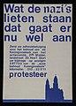 """Gedrukte poster met """"wat de nazi's lieten staan, dat gaat er nu wel aan"""", bedoeld als protest tegen sloop Koninginnekerk, objectnr 31262.JPG"""