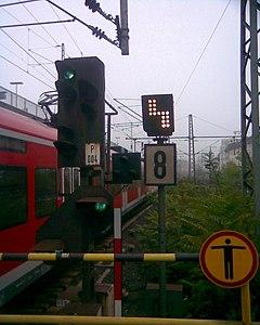 lichtsignale bei der bundesbahn