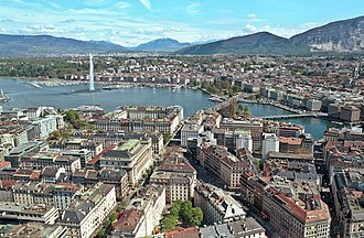 Geneva - A view over Geneva and the lake