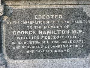George Hamilton (politician) - Image: George Hamilton Tombstone