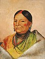 George Catlin - Mee-chéet-e-neuh, Wounded Bear's Shoulder, Wife of the Chief - 1985.66.219 - Smithsonian American Art Museum.jpg