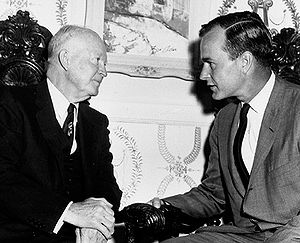 George H. W. Bush - Bush with President Dwight D. Eisenhower