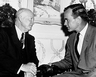 George H. W. Bush - Former President Dwight D. Eisenhower with Bush