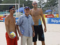 George W Bush with Todd Rogers and Phil Dalhausser.jpg