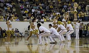 Georgia Tech Yellow Jackets men's basketball - Cheerleaders during a basketball game