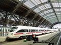 German high-speed ICE train at Leipzig station - Flickr - TeaMeister.jpg