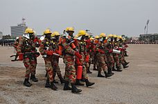Ghana National Fire and Rescue Service (GNFRS) Firefighters.