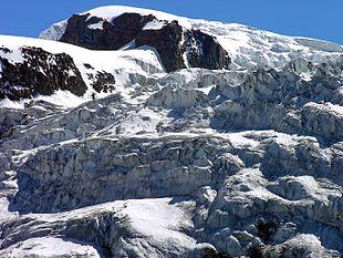 La seraccata del ghiacciaio della Tribolazione.