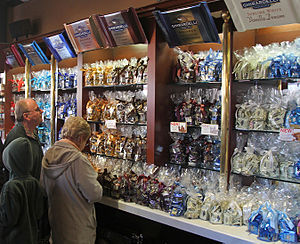 Domingo Ghirardelli - A selection of Ghirardelli's chocolate in the flagship shop at Ghirardelli Square in San Francisco, California