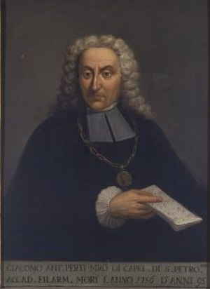 Giacomo Antonio Perti - Image: Giacomo Antonio Perti
