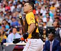 Giancarlo Stanton competes in semis of '16 T-Mobile -HRDerby. (27957565034).jpg