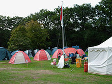 A Scout camp at Gilwell Park GilwellParkCampsite2006.jpg