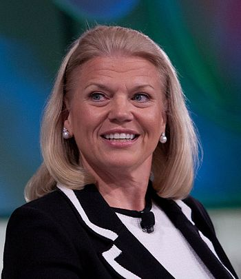 English: Ginni Rometty of IBM in 2011 during &...
