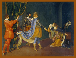 Isabella of Aragon, Duchess of Milan - Isabella pleads before King Charles