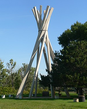 National Register of Historic Places listings in Roberts County, South Dakota - Image: Glacial Lakes Rest Area teepee 1