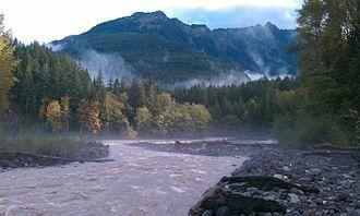Nooksack River - Glacier Creek joins the Nooksack River