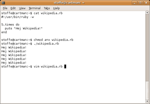 Gnome Terminal bash command line