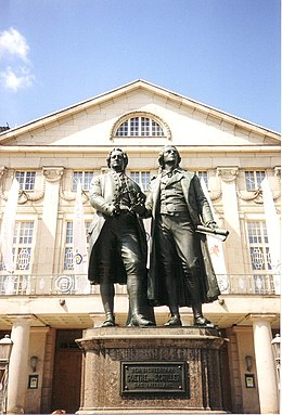 It Goethe-Schillermonumint