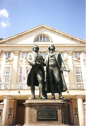 Deutsches Nationaltheater and Staatskapelle Weimar - Nationaltheater and Goethe–Schiller Monument (1996)