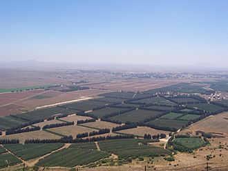 The Syrian Golan Heights occupied by Israel since the Six-Day War Golan heights border.jpg