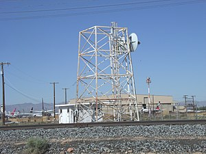 Phoenix Goodyear Airport - Old World War ll Radar Tower built in 1941 and located in the Phoenix Goodyear Airport (formerly Goodyear Municipal Airport). The airport was used as a naval air facility during World War II