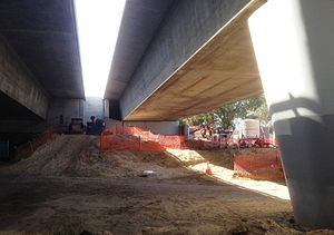 Goongoongup Bridge - Abutment repair work in April 2012